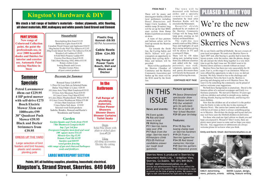 Skerries News May 2007